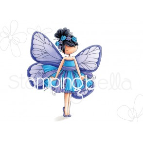 tiny townie butterfly girl BLANCHE rubber stamp