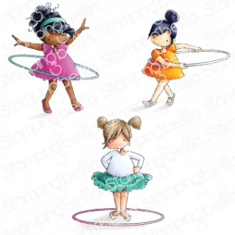 Tiny Townie HULA HOOPERS rubber stamps
