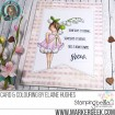garden girl FLOWER SENTIMENTS (includes 6 stamps)