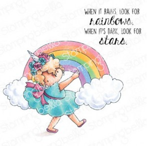 RAINBOW TINY TOWNIE rubber stamp