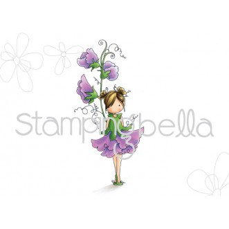 tiny townie GARDEN GIRL SWEETPEA (April's BIRTH FLOWER)