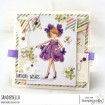 tiny townie GARDEN GIRL VIOLET rubber stamp