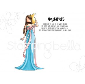 UPTOWN ZODIAC GIRL AQUARIUS rubber stamps