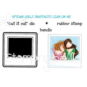 "UPTOWN GIRLS SNAPSHOTS I HAVE A SECRET RUBBER STAMP + POLAROID ""CUT IT OUT"" DIE BUNDLE (save 15%)"