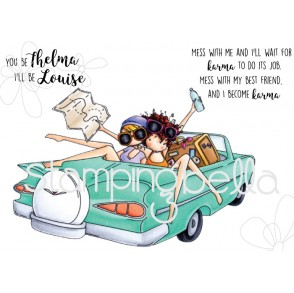 UPTOWN GIRLS THELMA and LOUISE Cling mounted RUBBER STAMPS