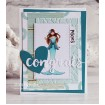 UPTOWN ZODIAC GIRL PISCES rubber stamps