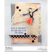UPTOWN GIRL STEPHANIE LOVES BALLET RUBBER STAMP