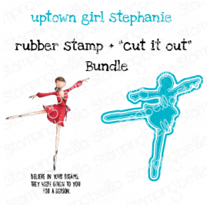 "UPTOWN GIRL STEPHANIE LOVES BALLET RUBBER STAMP + ""CUT IT OUT"" DIE BUNDLE (SAVE 15%)"