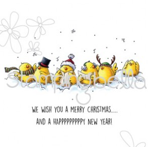 Caroling Chicks (includes sentiment)