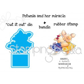 "Petunia and her Miracle ""CUT IT OUT DIE"" + RUBBER STAMP BUNDLE (save 15% when purchased as a set)"