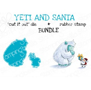 "YETI AND SANTA RUBBER STAMP + CUT IT OUT"" die BUNDLE (save 15%)"