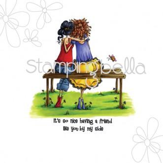 uptown girls BELINDA and BERNADETTE bench buddies (incl sentiment)