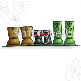 row of boots DIGITAL IMAGE