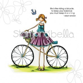 uptown girl FLORA and her BICYCLE (includes sentiment)