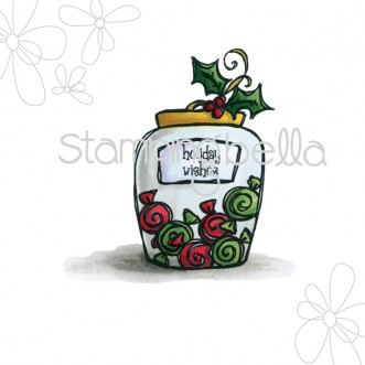 candy jar with HOLLY DIGITAL IMAGE
