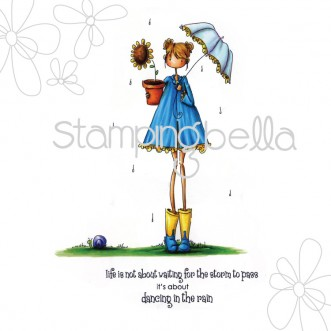 uptown girl LOLLY and her BROLLY (includes sentiment)