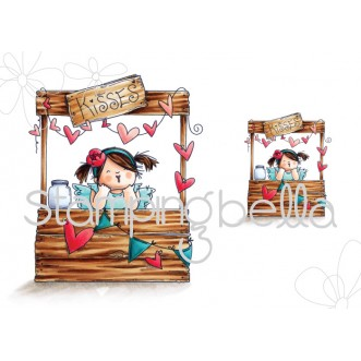 kissing booth SQUIDGY (includes 2 stamps)