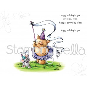 Kitty and MOUSIE celebrate a birthday (includes 2 stamps)