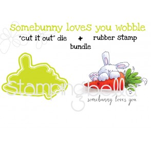 """somebunny LOVES YOU RUBBER STAMP + """"CUT IT OUT"""" DIE BUNDLE (SAVE 15%)"""